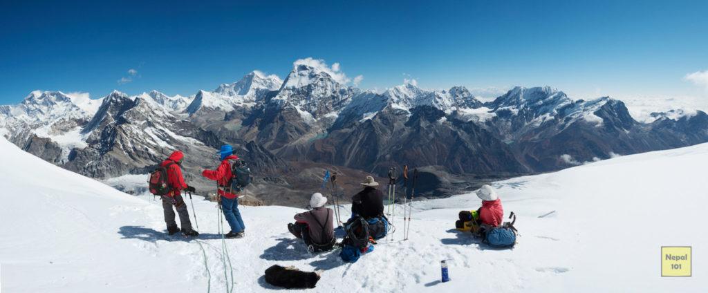 Panoramic view from Kala Patthar Nepal101